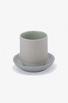 Tasse + Untertasse - Bat Trang Tafelgeschirr